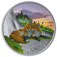 2019 $20 Canadian Fauna: The Fox Fine Silver Coin (No Tax)