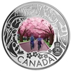 2019 $3 Celebrating Canadian Fun & Festivities Cherry Blossoms Silver (No Tax)