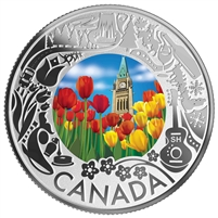 2019 $3 Celebrating Canadian Fun and Festivities - Tulips Fine Silver (No Tax)
