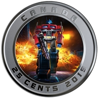 2019 Canada 25-cent Transforming Optimus Prime