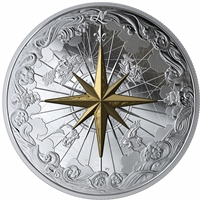 (Pre-Order) 2019 Canada $50 Rose of the Winds Fine Silver (No Tax)