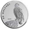 2019 Canada $20 The Valiant One - Bald Eagle Fine Silver (No Tax)