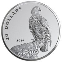 RDC 2019 Canada $20 The Valiant One - Bald Eagle Fine Silver (No Tax) Dented sleeve