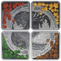 (Pre-Order) 2019 Canada $3 The Elements Fine Silver Coin Set (No Tax)