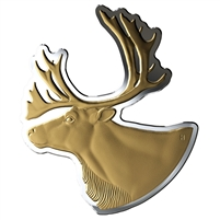(Pre-Order) 2020 Canada $50 Real Shapes: The Caribou Fine Silver Coin (No Tax)
