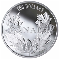 2019 $100 Canadian Maples Fine Silver Coin (No Tax)