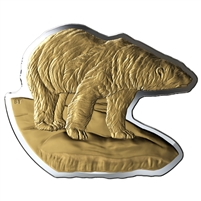 2020 Canada $50 Real Shapes: The Polar Bear Fine Silver Coin (TAX Exempt)