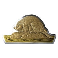 (Pre-Order) 2020 Canada $50 Real Shapes The Beaver Fine Silver (No Tax)