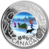 2019 Canada $3 Celebrating Canadian Fun and Festivities Christmas Tree (No Tax)