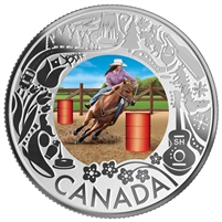 2019 $3 Celebrating Canadian Fun and Festivities - Rodeo Fine Silver Coin (No Tax)