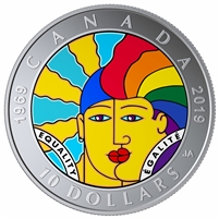 2019 Canada $10 Equality Fine Silver (No Tax)