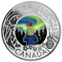 RDC 2019 $3 Celebrating Canadian Fun & Festivities - Aurora Borealis (No Tax) scuff