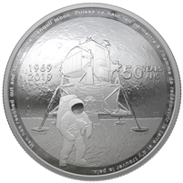 2019 Canada $25 50th Anniversary of the Apollo 11 Moon Landing Fine Silver (No Tax)