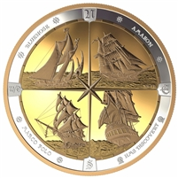 2019 $125 Tall Ships of Canada Fine Silver (No Tax)