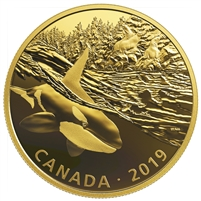 2019 Canada $30 Golden Reflections - Predator and Prey Orca & Sea Lions Silver (No Tax)