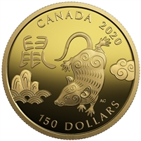 2020 Canada $150 Year of the Rat Gold (TAX Exempt)