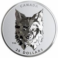 2020 Canada $25 Multifaceted Animal Head - Lynx Fine Silver (No Tax)