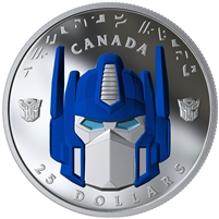RDC 2019 Canada $25 Transformers - Optimus Prime Fine Silver (No Tax) scuffed sleeve