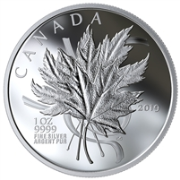 2019 Canada $20 The Beloved Maple Leaf Fine Silver (No Tax)