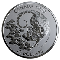 2020 Canada $10 Year of the Rat Fine Silver (TAX Exempt)