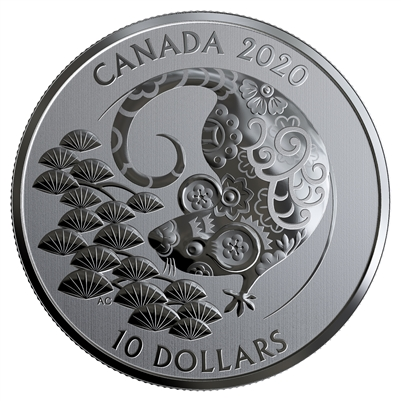 (Pre-Order) 2020 Canada $10 Year of the Rat Fine Silver (TAX Exempt)