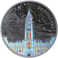 (Pre-Order) 2019 Canada $20 Lights of Parliament Hill Fine Silver  (No Tax)