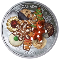 2020 Canada $20 Murano Holiday Cookies Fine Silver Coin