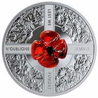 2019 Canada $20 Lest We Forget Fine Silver (No Tax)
