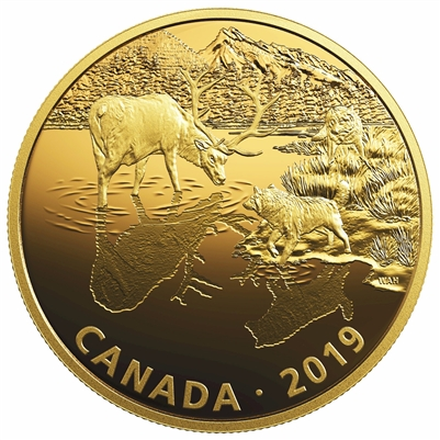 (Pre-Order) 2019 Canada $30 Golden Reflections - Predator & Prey Wolves & Elk (No Tax)