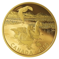2019 Canada $30 Golden Reflections Predator & Prey Snowy Owl & Greater White-Fronted Geese (No Tax)