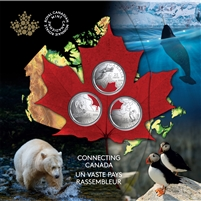 2020 Canada 25-cent Connecting Canada 3-Coin Set.