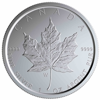 2020-W Special Edition Canada $5 Silver Maple Leaf with W Mint Mark (No Tax)