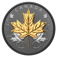 (Pre-Order) 2020 Canada $50 Maple Leaves in Motion Fine Silver Coin (No Tax)