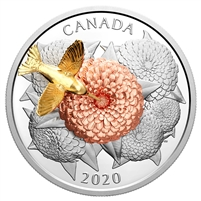 2020 Canada $50 The Hummingbird and the Bloom Fine Silver Coin