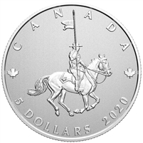 2020 Canada $5 Moments to Hold: Celebrating 100 Years of the RCMP as Canada's National Police Force Pure Silver Coin