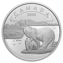 2020 Canada $10 O Canada! Polar Bears Fine Silver Coin (No Tax)