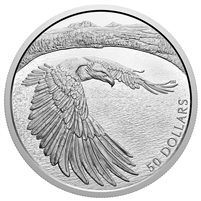 (Pre-Order) 2020 Canada $50 Courageous Bald Eagle Fine Silver (No Tax)