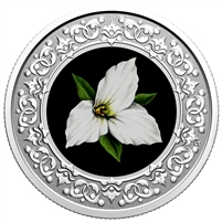2020 $3 Floral Emblems of Canada - Ontario: White Trillium Fine Silver (No Tax)