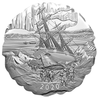 2020 Canada $50 Franklin's Lost Arctic Expedition Fine Silver Coin (No Tax)