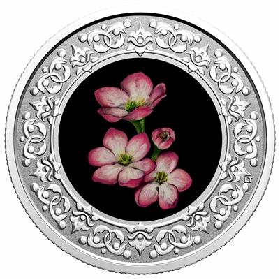 2020 $3 Floral Emblems of Canada - Nova Scotia Mayflower Silver (No Tax)