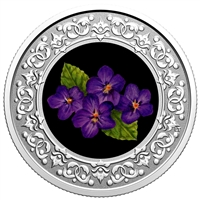 2020 $3 Floral Emblems of Canada - New Brunswick Purple Violet Silver (No Tax)