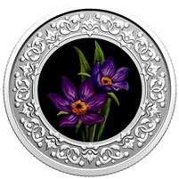 2020 $3 Floral Emblems of Canada - Manitoba Prairie Crocus Silver (No Tax)