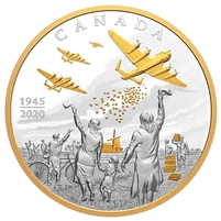 2020 Canada $100 Liberation of the Netherlands: Operation Manna Fine Silver (No Tax)