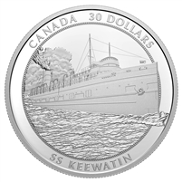 2020 Canada $30 SS Keewatin Fine Silver Coin (TAX Exempt)