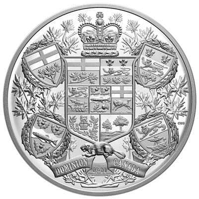 (Pre-Order) 2020 Canada $250 Reimagined 1905 Arms of Dominion of Canada Fine Silver (TAX Exempt)