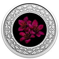 2021 $3 Floral Emblems of Canada - Nunavut: Purple Saxifrage Fine Silver Coin