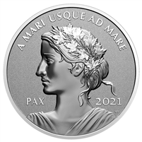2021 Canada $1 Peace Dollar Fine Silver Coin (TAX Exempt)