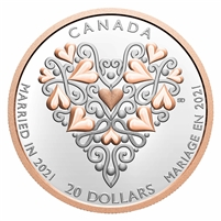 2021 Canada $20 Best Wishes on Your Wedding Day Fine Silver (No Tax)
