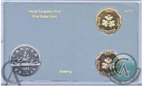 1985 Canada Royal Canadian Mint One Dollar Test set.