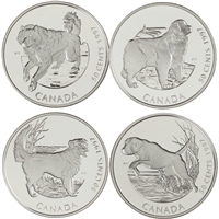 1997 Canada 50-cent Dogs of Canada 4-coin Sterling Silver Set